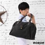 韓系型男 ROBOR品味都會型男側背/手提/斜背三用包(黑灰)