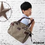 韓系型男 ROBOR克里克時尚型男側背/手提/斜背三用包(軍綠)