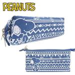 Snoopy 史努比 兩用型 牛仔 筆袋 鉛筆盒 扁筆袋 PEANUTS